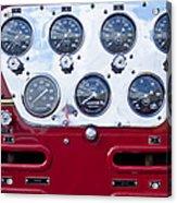 1952 L Model Mack Pumper Fire Truck Controls Acrylic Print