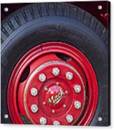 1952 L Model Mack Pumper Fire Truck Wheel 2 Acrylic Print