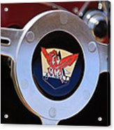 1953 Arnolt Mg Steering Wheel Emblem Acrylic Print