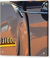 1953 Chevrolet 3100 Pickup Emblem Acrylic Print