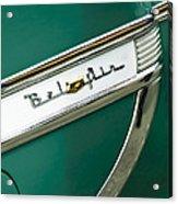 1953 Chevrolet Belair Side Emblem Acrylic Print