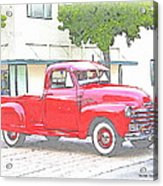 1953 Red Chevy Pickup Truck Acrylic Print