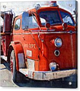 1954 American Lafrance Classic Fire Engine Truck Acrylic Print