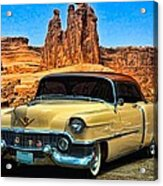 1954 Cadillac Coupe Deville Acrylic Print by Tim McCullough