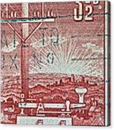 1954 Centenary Of Australian Telegraph Stamp Acrylic Print