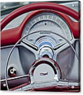 1954 Chevrolet Corvette Steering Wheel Acrylic Print