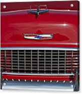 1955 Chevrolet 210 Hood Ornament And Grille Acrylic Print