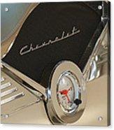 1955 Chevrolet Belair Clock Acrylic Print