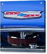 1955 Chevrolet Belair Hood Emblem 4 Acrylic Print