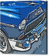 1955 Chevy Bel Air Front Study Acrylic Print by Samuel Sheats