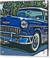 1955 Chevy Bel Air Acrylic Print by Samuel Sheats