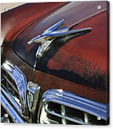 1955 Chrysler Windsor Deluxe Hood Ornament Acrylic Print