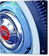 1955 Gmc Suburban Carrier Pickup Truck Wheel Emblem Acrylic Print