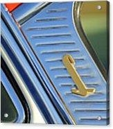 1955 Lincoln Capri Emblem Acrylic Print