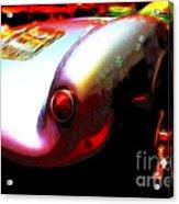 1955 Porsche 550 Rs Spyder . Color Sketch Style Acrylic Print