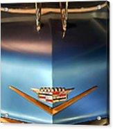 1956 Cadillac Eldorado Biarritz Convertible Hood Ornament And Emblem Acrylic Print