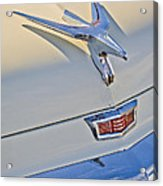 1956 Chrysler Windsor Town And Country  Hood Ornament Acrylic Print