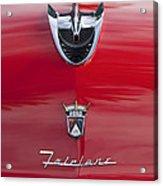 1956 Ford Fairlane Hood Ornament 7 Acrylic Print