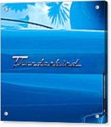 1956 Ford Thunderbird Taillight Emblem Acrylic Print