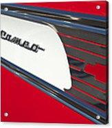 1957 Chevrolet Cameo Pickup Emblem Acrylic Print