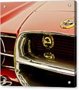1957 Dual Ghia Convertible Coupe Grille And Hood Emblem Acrylic Print