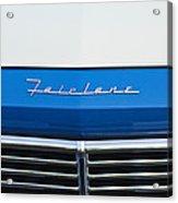 1957 Ford Fairlane Grille Emblem Acrylic Print