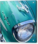 1957 Oldsmobile 98 Starfire Convertible Fender Spear Acrylic Print