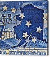 1959 Alaska Statehood Stamp Acrylic Print