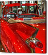 1959 Cadillac At The Pumps Acrylic Print