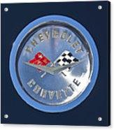 1959 Chevrolet Corvette Emblem Acrylic Print
