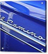 1959 Chevrolet El Camino Emblem Acrylic Print