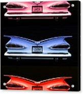 1959 Chevrolet Eyebrow Tail Lights Acrylic Print