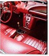 1960 Chevrolet Corvette Interior Acrylic Print