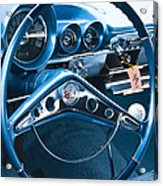 1960 Chevrolet Impala Steering Wheel Acrylic Print