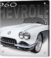 1960 Corvette Acrylic Print by Mike McGlothlen