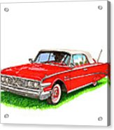1960 Edsel Ranger Convertible Acrylic Print