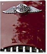 1960 Morgan Plus Four Drophead Coupe Hood Emblem Acrylic Print