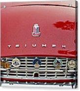 1960 Triumph Tr 3 Grille Emblems Acrylic Print