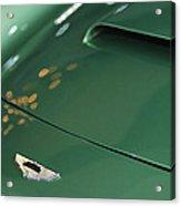 1961 Aston Martin Db4 Series Iv Hood Emblem Acrylic Print