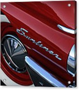 1961 Ford Galaxie Sunliner Convertible Acrylic Print