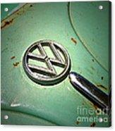 1961 Green Vw Acrylic Print