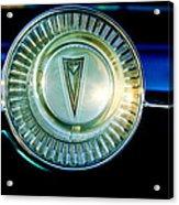 1961 Pontiac Catalina Steering Wheel Emblem Acrylic Print