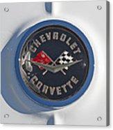 1962 Chevrolet Corvette Emblem 4 Acrylic Print