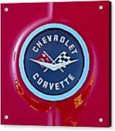 1962 Chevrolet Corvette Emblem Acrylic Print