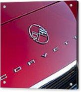 1962 Chevrolet Corvette Hood Emblem 3 Acrylic Print