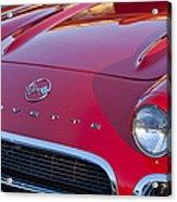 1962 Chevrolet Corvette Hood Acrylic Print