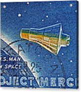 1962 Man In Space Stamp Acrylic Print