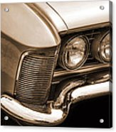 1963 Buick Riviera Sepia Acrylic Print