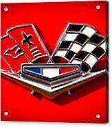 1963 Chevy Corvette Emblem Acrylic Print