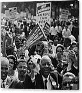 1963 March On Washington. Close-up Acrylic Print